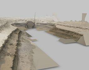 3D model Beach Sewer Drain RAW SCAN