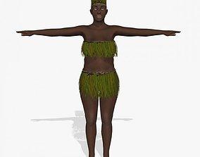 Affrican Black Women A26 3D