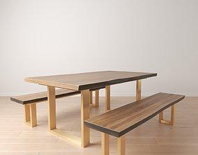 Live Edge Wood Table 3D
