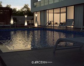 landscape villa 3D model