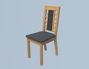 oak dinnig chair 3D