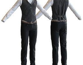 3D Men s classic suit