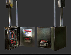 Electrical Box Game Ready 3D asset