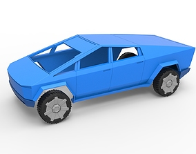 3D printable model Diecast shell and wheels Tesla 5
