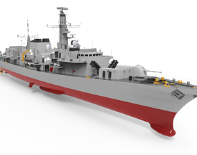 3D model Frigate Type 23 Anti Submarine