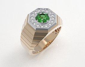 Golden male ring 3D print model