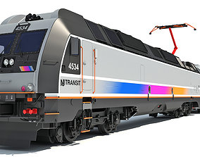 3D model New Jersey NJ Transit Train