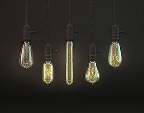 Vintage Bulbs old 3D