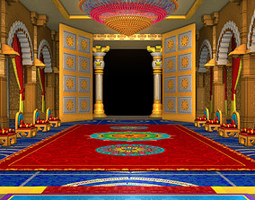 Ancient Indian Palace Ballroom 3D model