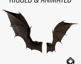 Pair of Bat Wings C4D 3D asset