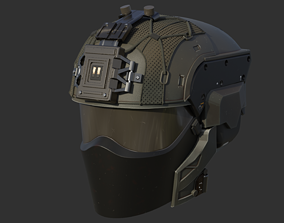 3D printable model Futuristic tactical helmet
