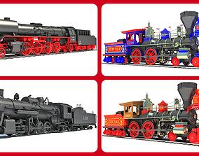 Steam Locomotives Models 3D