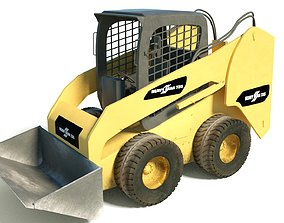 3D Heavy Dusty Excavator Generic Yellow Heavy Equipment HQ
