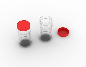 Pickle Plastic Bottle with Red Cap 3D printable model
