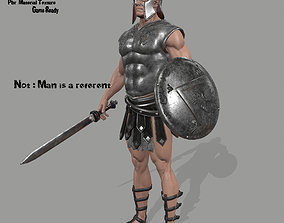 3D asset gladiator armor