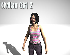 Civilian Girl 3D asset