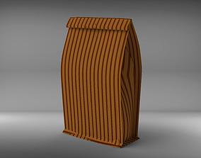 Paper bag 3D model PBR