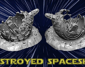 destroyed spaceship 3D print model