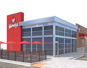Retail-044 Wendys-002 With Site 3D model