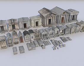 Mausoleums Tombs and Graves pack 4 3D model