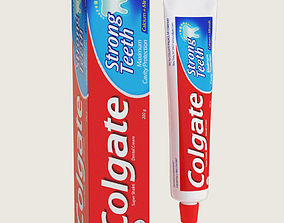 Colgate Toothpaste Package 3D model