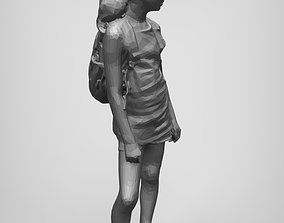 school girl 3D printable model