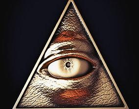3D masons Illuminati Symbol Print Model