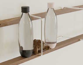 3D model Soda Stream Bottle 1 Liter Water Bottle