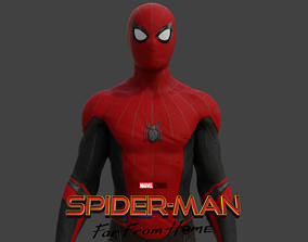 rigged Spider-man Far from home 3D Model Rigged and 3D