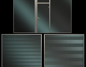 3D Glass Partition Wall