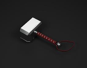 Thor Mjolnir for free 3D model animated