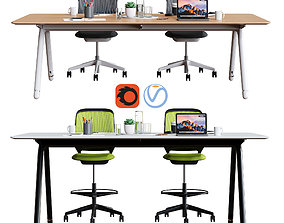 3D model Steelcase - POTRERO415 Conference Set1