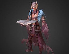 Enchantress for mobile games 3D asset