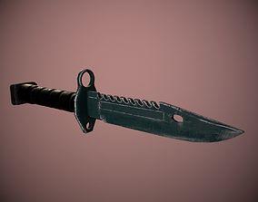 3D asset Bayonet M9
