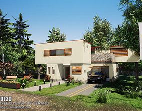 3D model realtime SUMMER HOUSE