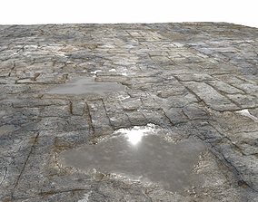 Old Floor Seamless PBR Texture 3D model stone