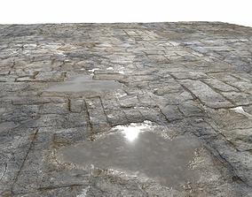 3D Old Floor Seamless PBR Texture