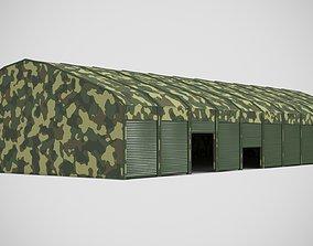 3D asset Garage for military equipment for 11 cars