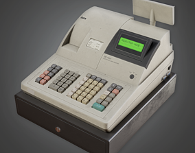 SAM - Commercial Checkout Machine- PBR Game Ready 3D model