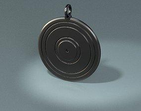 Vynil record pendant 3D print model