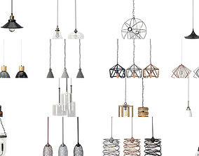 Lamps and Lights Collection 3D model architectural