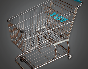 3D asset Shopping Cart - SAM - PBR Game Ready