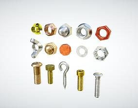 Industrial Screws Pack 3D asset