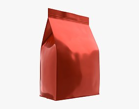 3D model Plastic coffee bag package packet small mock-up