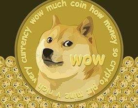 3D model VR / AR ready Doge Coin