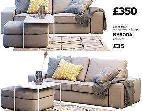 Two-seat sofa IKEA KIVIK 2 3D