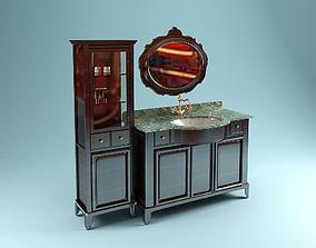 V B brown Washstand 3D