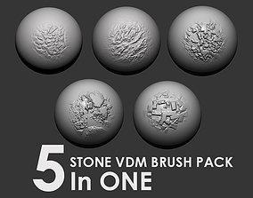 3D model Stone VDM Brush Pack