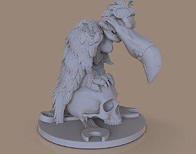 Figurines stylized vulture 3D print model