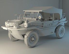 Volkswagen type 166 Schwimmwagen military 3D